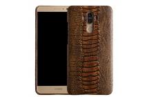 Фирменная элегантная экзотическая задняя панель-крышка с фактурной отделкой натуральной кожи страуса кофейного цвета для  ASUS ZenFone 3 Deluxe ZS570KL 5.7 (Z016D). Только в нашем магазине. Количество ограничено.