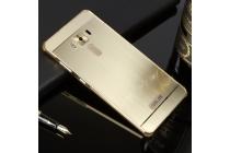 Фирменная металлическая задняя панель-крышка-накладка из тончайшего облегченного авиационного алюминия для ASUS ZenFone 3 Deluxe ZS570KL 5.7 (Z016D) золотая