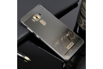 Фирменная металлическая задняя панель-крышка-накладка из тончайшего облегченного авиационного алюминия для ASUS ZenFone 3 Deluxe ZS570KL 5.7 (Z016D) чёрная