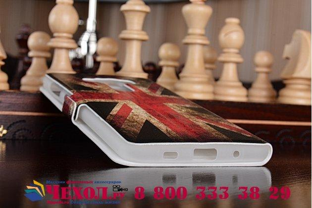 Фирменный чехол-книжка с рисунком на тему Британский флаг на ASUS ZenFone 3 Deluxe ZS570KL 5.7 с окошком для звонков