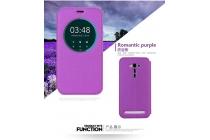 Фирменный оригинальный чехол-книжка для ASUS ZenFone 3 Deluxe ZS570KL 5.7 пурпурный с окошком для входящих вызовов водоотталкивающий