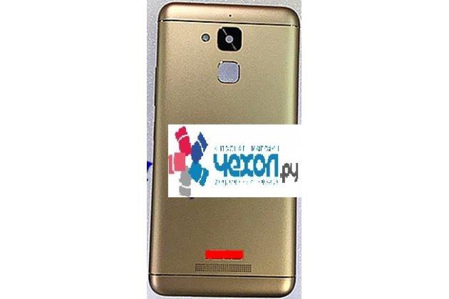 Фирменная задняя панель-крышка-накладка из тончайшего и прочного пластика для ASUS ZenFone 3 Laser ZC551KL 5.5 золотая