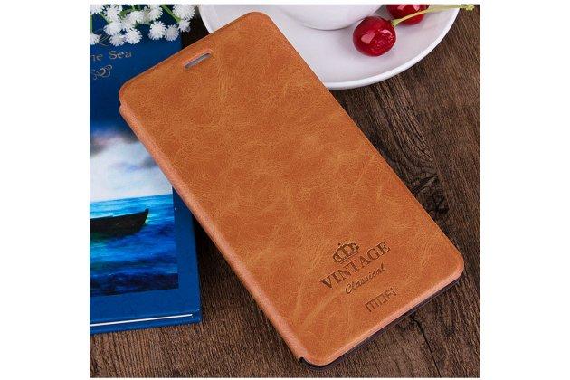 Фирменный премиальный элитный чехол-книжка из качественной импортной кожи с мульти-подставкой и визитницей для ASUS ZenFone 3 Laser ZC551KL 5.5 коричневый