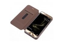 Фирменный премиальный элитный чехол-книжка из качественной импортной кожи с мульти-подставкой и визитницей для ASUS ZenFone 3 Laser ZC551KL 5.5 розовый