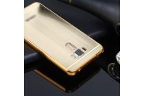 Фирменная металлическая задняя панель-крышка-накладка из тончайшего облегченного авиационного алюминия для ASUS ZenFone 3 Laser ZC551KL 5.5 золотая