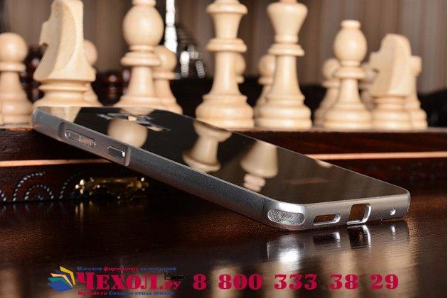 Фирменная металлическая задняя панель-крышка-накладка из тончайшего облегченного авиационного алюминия для ASUS ZenFone 3 Laser ZC551KL 5.5 серебристая