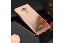 Фирменная металлическая задняя панель-крышка-накладка из тончайшего облегченного авиационного алюминия для ASUS ZenFone 3 Laser ZC551KL 5.5 розовое золото