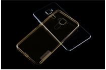 Фирменная задняя панель-чехол-накладка с защитными заглушками с защитой боковых кнопок для ASUS ZenFone 3 Laser ZC551KL 5.5 прозрачная золотая