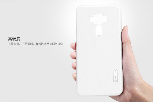 Фирменная задняя панель-крышка-накладка из тончайшего и прочного пластика для ASUS ZenFone 3 Laser ZC551KL 5.5 белая