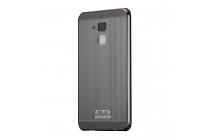 Фирменная металлическая задняя панель-крышка-накладка из тончайшего облегченного авиационного алюминия для ASUS ZenFone 3 Max ZC520TL 5.2 (X008D Z01B) чёрного цвета