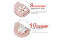 Фирменный роскошный чехол-книжка безумно красивый декорированный бусинками и кристаликами на ASUS ZenFone 3 Max ZC520TL 5.2 розовый