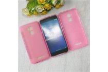 Фирменная ультра-тонкая полимерная из мягкого качественного силикона задняя панель-чехол-накладка для ASUS ZenFone 3 Max ZC520TL 5.2 розовая