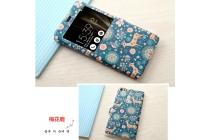 Фирменный чехол-книжка с рисунком на тему Олени в цветах на ASUS ZenFone 3 Ultra ZU680KL 6.8 с окошком для звонков
