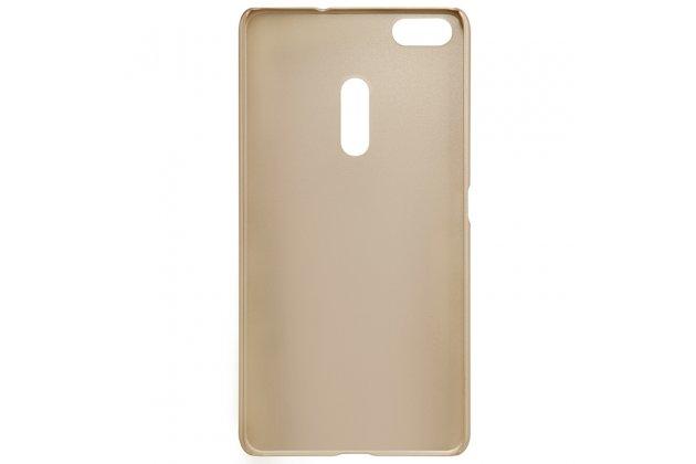 Фирменная задняя панель-крышка-накладка из тончайшего и прочного пластика для ASUS ZenFone 3 Ultra ZU680KL 6.8 золотая
