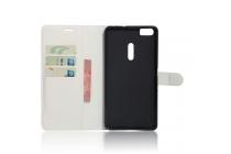 Фирменный чехол-книжка из качественной импортной кожи с застёжкой и мультиподставкой для ASUS ZenFone 3 Ultra ZU680KL 6.8 белый