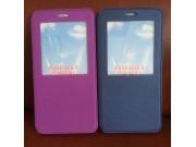 Фирменный оригинальный чехол-книжка для ASUS ZenFone 3 Ultra ZU680KL 6.8 фиолетовый с окошком для входящих выз..