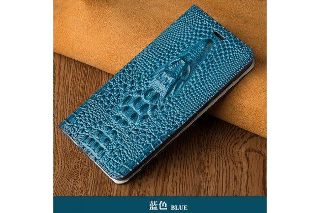 Фирменный роскошный эксклюзивный чехол с объёмным 3D изображением кожи крокодила синий для  ASUS ZenFone 3 / Zenfone 3 Neo ZE520KL 5.2 (Z017DA)  . Только в нашем магазине. Количество ограничено
