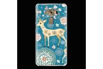 Фирменная необычная из легчайшего и тончайшего пластика задняя панель-чехол-накладка для ASUS ZenFone 3 / Zenfone 3 Neo ZE520KL 5.2 тематика Олени в цветах