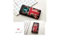 """Фирменный чехол-книжка с рисунком на тему """"Британский флаг"""" на ASUS ZenFone 3 / Zenfone 3 Neo ZE520KL 5.2 с окошком для звонков"""