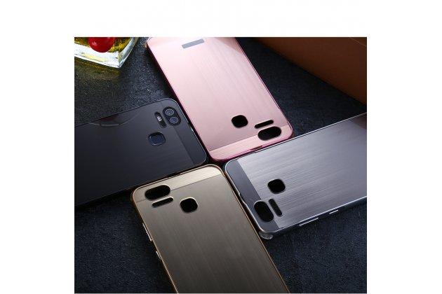 Фирменная металлическая задняя панель-крышка-накладка из тончайшего облегченного авиационного алюминия для Asus ZenFone 3 Zoom ZE553KL 5.5 (Z01HDA)  серебристая