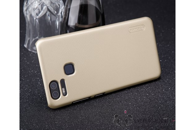 Фирменная ультра-тонкая пластиковая задняя панель-чехол-накладка для Asus ZenFone 3 Zoom ZE553KL 5.5 (Z01HDA) золотая