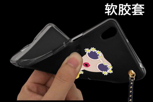 """Модная стильная оригинальная накладка из ультратонкого силикона для Asus Zenfone 3S Max ZC521TL тематика """"Модный приговор"""" с кисточкой и рисунком Женщина в черном"""