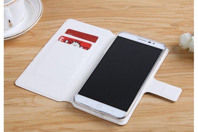 """Фирменный чехол-книжка с подставкой застёжкой и визитницей для ASUS ZenFone 4 Max ZC520KL (A006/4A032RU) 5.2"""" / Android 7.0 с изображением """"Узоры"""""""