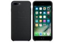 Фирменная задняя панель-крышка-накладка из тончайшего и прочного пластика для iPhone 7 / iPhone 8 4.7 черная