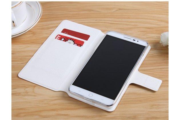 """Фирменный чехол-книжка с подставкой застёжкой и визитницей для ASUS ZenFone 4 Max ZC520KL (A006/4A032RU) 5.2"""" / Android 7.0 с изображением """"Котенок"""""""
