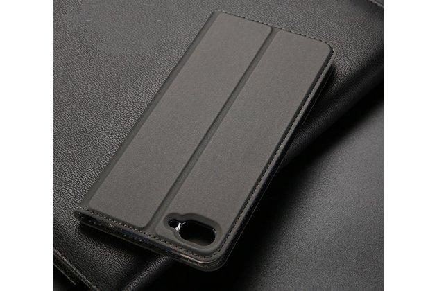 """Фирменный чехол-книжка из качественной импортной кожи с мульти-подставкой и визитницей для ASUS ZenFone 4 Max ZC520KL (A006/4A032RU) 5.2"""" / Android 7.0 черный"""