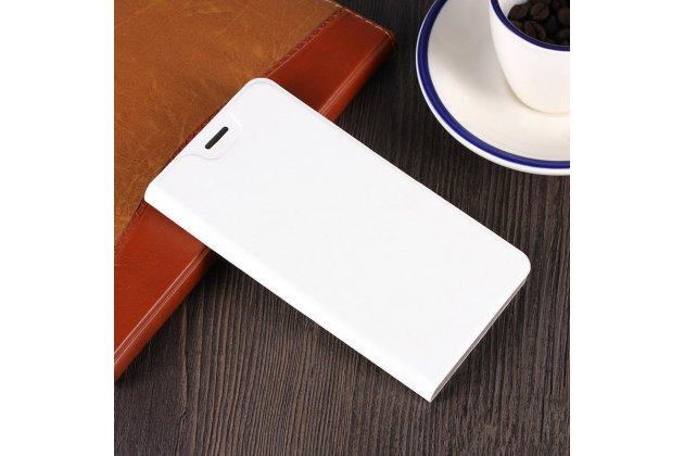 """Фирменный чехол-книжка из качественной импортной кожи с мульти-подставкой и визитницей для ASUS ZenFone 4 Max ZC520KL (A006/4A032RU) 5.2"""" / Android 7.0 белый"""