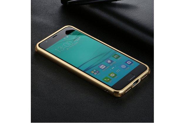"""Фирменная металлическая задняя панель-крышка-накладка из тончайшего облегченного авиационного алюминия для ASUS ZenFone 4 Max ZC520KL (A006/4A032RU) 5.2"""" / Android 7.0 золотая"""