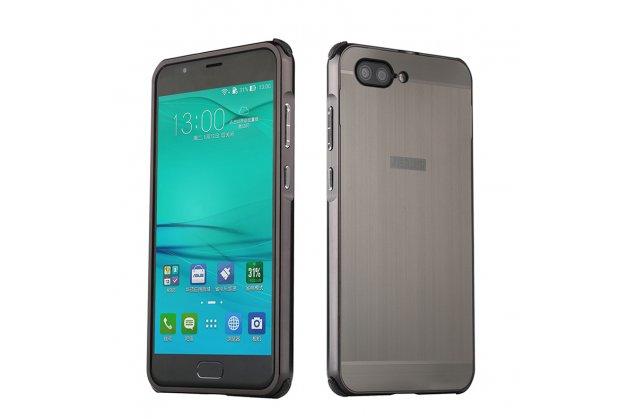 """Фирменная металлическая задняя панель-крышка-накладка из тончайшего облегченного авиационного алюминия для ASUS ZenFone 4 Max ZC520KL (A006/4A032RU) 5.2"""" / Android 7.0 черный металлик"""