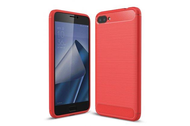 """Фирменная ультра-тонкая полимерная из мягкого качественного силикона задняя панель-чехол-накладка для ASUS ZenFone 4 Max ZC520KL (A006/4A032RU) 5.2"""" / Android 7.0 красная"""