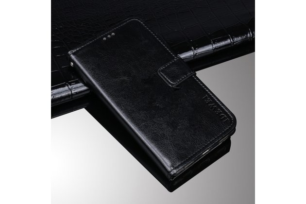 """Фирменный чехол-книжка из качественной импортной кожи с подставкой застёжкой и визитницей для ASUS ZenFone 4 Max ZC520KL (A006/4A032RU) 5.2"""" / Android 7.0 черный"""