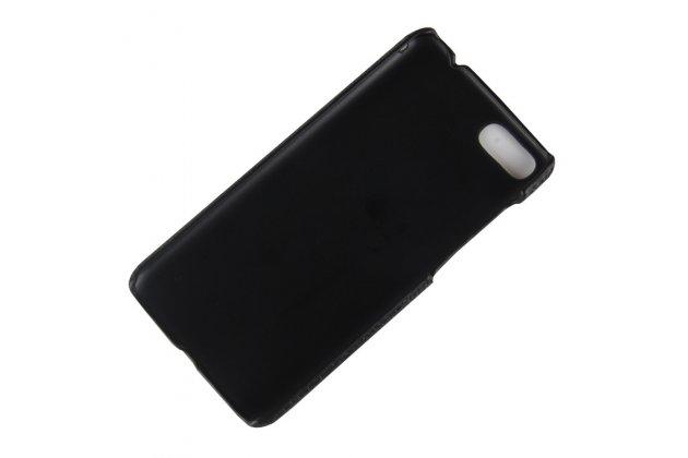 """Фирменная задняя панель-крышка на пластиковой основе обтянутая фактурной кожей для ASUS ZenFone 4 Max ZC520KL (A006/4A032RU) 5.2"""" / Android 7.0 черная"""