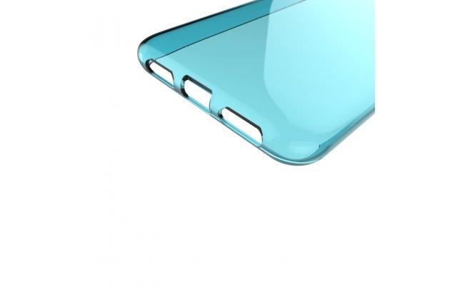 """Фирменная ультра-тонкая полимерная из мягкого качественного силикона задняя панель-чехол-накладка для ASUS ZenFone 4 Max ZC520KL (A006/4A032RU) 5.2"""" / Android 7.0 прозрачная голубая"""