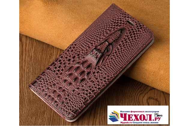 Фирменный роскошный эксклюзивный чехол с объёмным 3D изображением кожи крокодила цвет Красное вино для Asus Zenfone 4 Max ZC554KL 5.5  Только в нашем магазине. Количество ограничено