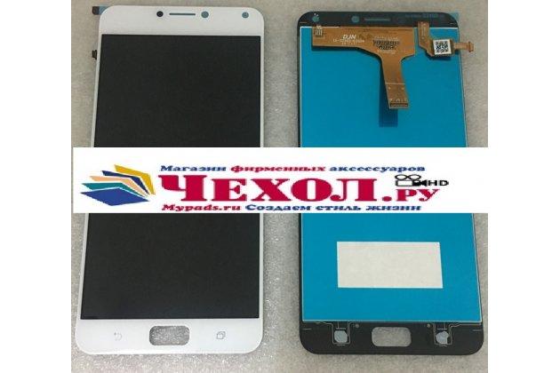 Фирменный LCD-ЖК-сенсорный дисплей-экран-стекло с тачскрином на телефон Asus Zenfone 4 Max ZC554KL 5.5 белый + гарантия