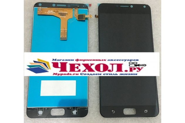 Фирменный LCD-ЖК-сенсорный дисплей-экран-стекло с тачскрином на телефон Asus Zenfone 4 Max ZC554KL 5.5 черный + гарантия