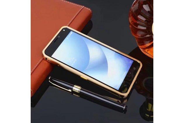 Фирменная металлическая задняя панель-крышка-накладка из тончайшего облегченного авиационного алюминия для Asus Zenfone 4 Max ZC554KL 5.5 золотая