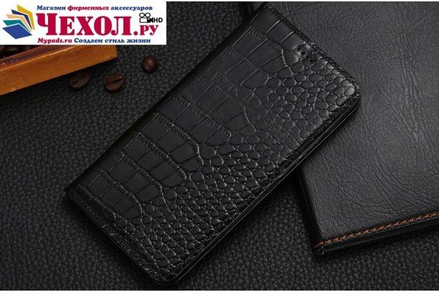 Фирменный роскошный эксклюзивный чехол с фактурной прошивкой рельефа кожи крокодила и визитницей черный для Huawei Honor 8X Max (ARE-AL00) 7.12. Только в нашем магазине. Количество ограничено