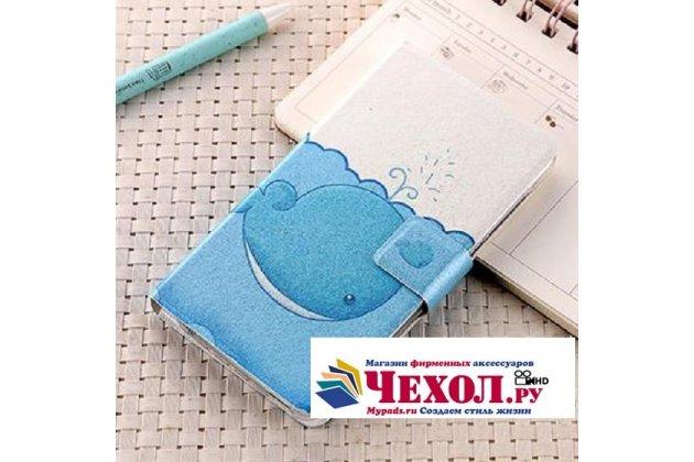 Фирменный уникальный необычный чехол-подставка для Asus Zenfone 4 Max ZC554KL 5.5  тематика Дельфин