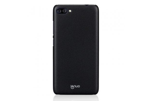 Задняя панель-крышка из прочного пластика с матовым противоскользящим покрытием для Asus Zenfone 4 Max ZC554KL 5.5  в черном цвете