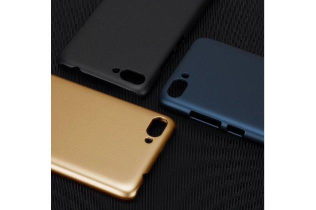 Задняя панель-крышка из прочного пластика с матовым противоскользящим покрытием для Asus Zenfone 4 Max ZC554KL 5.5  в золотом цвете