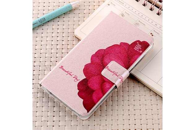 Фирменный уникальный необычный чехол-подставка для ASUS ZenFone 4 Pro ZS551KL  тематика Алый Цветок