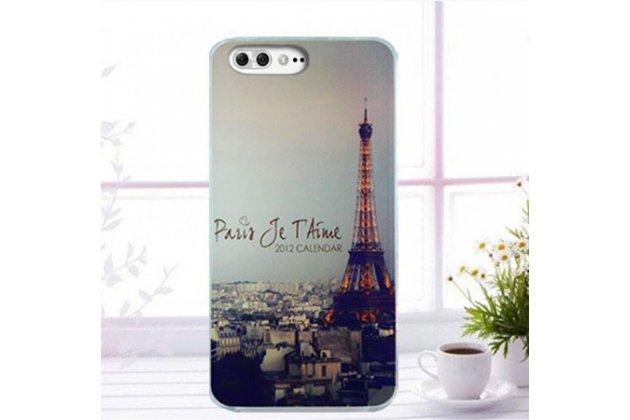 Фирменная роскошная задняя панель-чехол-накладка  из мягкого силикона с безумно красивым расписным 3D рисунком на ASUS ZenFone 4 Pro ZS551KL тематика Париж