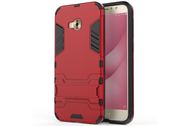 Противоударный усиленный ударопрочный фирменный чехол-бампер-пенал для ASUS ZenFone 4 Selfie Pro ZD552KL красный