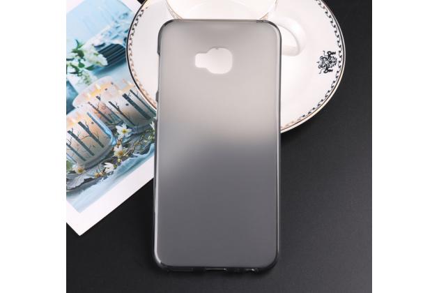 Фирменная ультра-тонкая полимерная из мягкого качественного силикона задняя панель-чехол-накладка для ASUS ZenFone 4 Selfie Pro ZD552KL серая