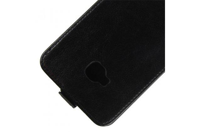 Фирменный оригинальный вертикальный откидной чехол-флип для ASUS ZenFone 4 Selfie Pro ZD552KL черный из натуральной кожи Prestige